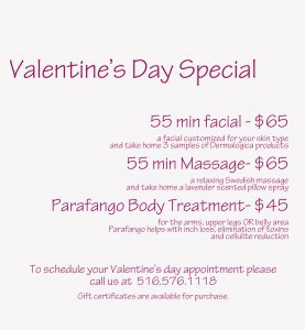 Valentine's Day spa specials