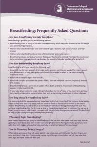Breast feeding Q&A p. 1