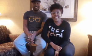 Watch There is hope!  Drea and husband after treatment session #7